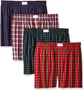 Tommy Hilfiger Men's Underwear 4 Pack Cotton Classics Woven Boxers