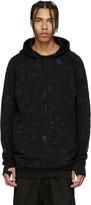 11 By Boris Bidjan Saberi Blue and Black Embroidered Hoodie