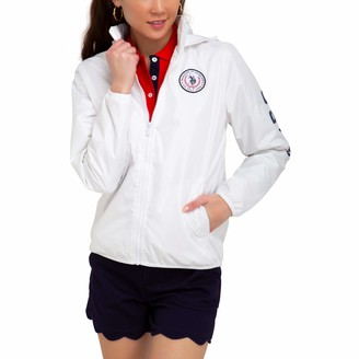 U.S. Polo Assn. Womens Light Filled Windbreaker Jacket - White Small