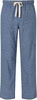 John Lewis Palm Print Chambray Lounge Pants, Blue