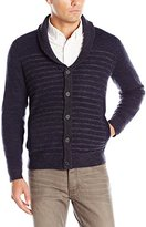 Kenneth Cole New York Kenneth Cole Men's Long Sleeve Plaited Shawl Sweater