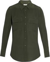 Equipment Patch-pocket button-down shirt