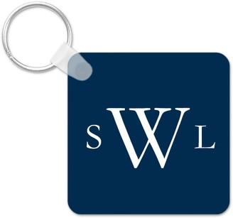 Shutterfly Three Letter Monogram Key Ring, Square, ,Adult Unisex