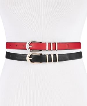 Steve Madden 2-for-1 Skinny Belts