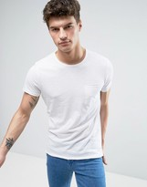 Solid T-Shirt With Pocket & Center Back Seam