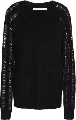 IRO Open And Ribbed-knit Sweater