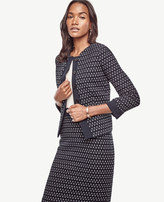 Ann Taylor Petite Geo Tweed Jacket