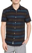 Lucky Brand Men's Blue Stripe Woven Shirt