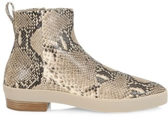 Fear Of God Santa Fe Snakeskin-Embossed Leather Ankle Boots