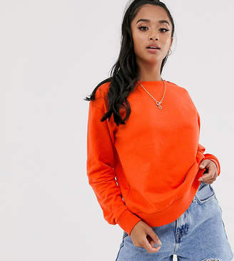 Asos DESIGN Petite organic cotton sweat in red