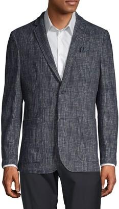 Vince Camuto Textured Cotton-Blend Blazer
