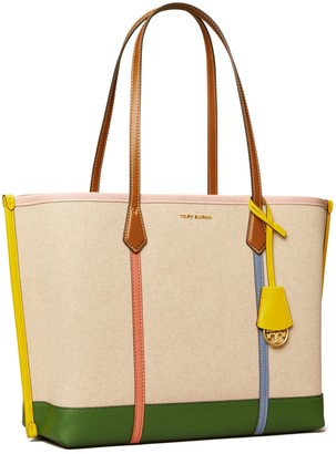 Tory Burch Perry Canvas Triple-Compartment Tote Bag