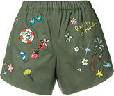 Mira Mikati multi-patches shorts - women - Cotton - 34