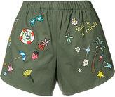 Mira Mikati multi-patches shorts - women - Cotton - 38