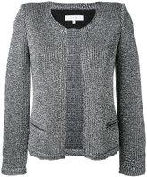 IRO 'Wallace' metallic knit jacket - women - Cotton/Polyamide/Polyester/other fibers - 38