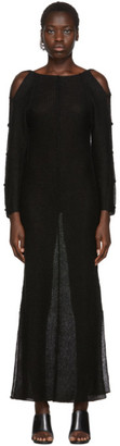 Eckhaus Latta Black Plunge Dress