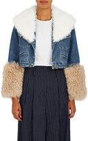 Sea Women's Dunaway Fur-Trimmed Denim Crop Jacket