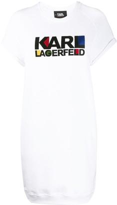 Karl Lagerfeld Paris Bauhaus logo sweatshirt dress