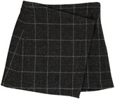 soeur Checked Tweed Volga Wrap Skirt