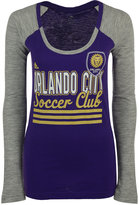 adidas Women's Long-Sleeve Orlando City SC 3-Stripe Stack T-Shirt