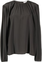 Lemaire silk oversized long-sleeve blouse