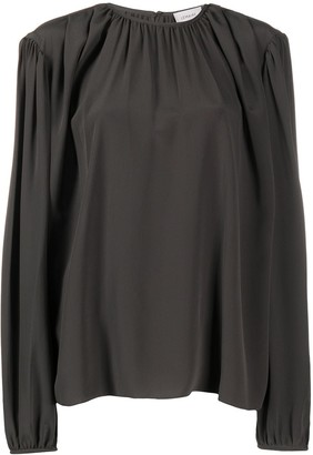 Lemaire Silk Oversized Long-Sleeve Blouse