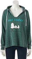 "Juniors' Peanuts Snoopy ""Not Today"" Graphic Hoodie"