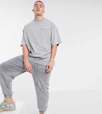 COLLUSION oversized t-shirt in washed charcoal