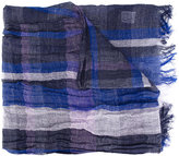 Y's fringed check scarf - women - Cotton/Linen/Flax - One Size
