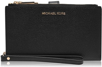 MICHAEL Michael Kors Jet Set Leather Zip Purse