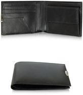 Pineider 1949 Black Leather Men's Wallet W/Coin Pocket