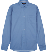 Jaeger Micro Spot Chambray Shirt, Blue
