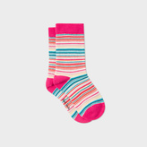 Paul Smith Girls' 7+ Years Multi-Colour Stripe 'Nerissa' Socks