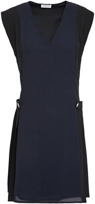 Claudie Pierlot Pleated Crepe De Chine Mini Dress