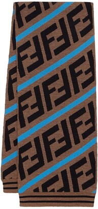 Fendi Kids FF stripe scarf