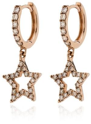 Rosa De La Cruz 18kt Rose Gold Star Diamond Huggie Earrings