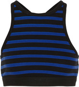 Alexander Wang Striped stretch-cotton bra top