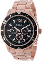 August Steiner Men's AS8059RG Quartz Multi-Function Divers Bracelet Watch