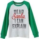 Carter's Boys' 12M- Long Sleeve Dear Santa Tee
