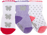 Robeez Pink Flutter By Three-Pair Socks Set