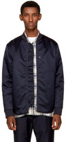 Acne Studios Navy Mylon Matt Bomber Jacket