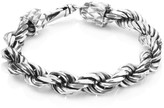 Emanuele Bicocchi Sterling Silver Rope Chain Bracelet