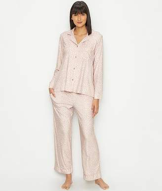 Donna Karan Signature Soft Stretch Velour Pajama Set