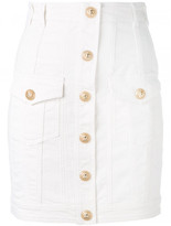 Balmain button mini skirt