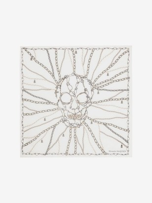 Alexander McQueen Chain Skull Silk Shawl
