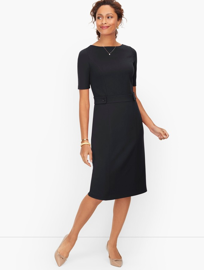 Talbots Italian Luxe Knit Bateau Neck Sheath Dress
