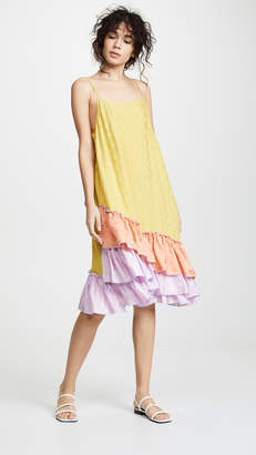 CF GOLDMAN Short Ruffle Slip Dress