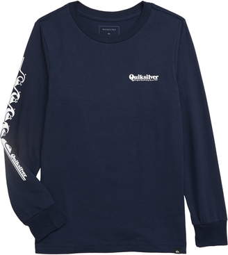 Quiksilver Logo Graphic Long Sleeve T-Shirt