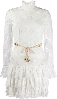 Zimmermann lace panel tiered dress