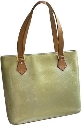Louis Vuitton Houston Green Patent leather Handbags